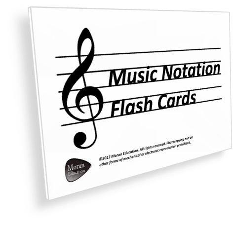 Music Notation Flash Cards - PDF - Moran Education