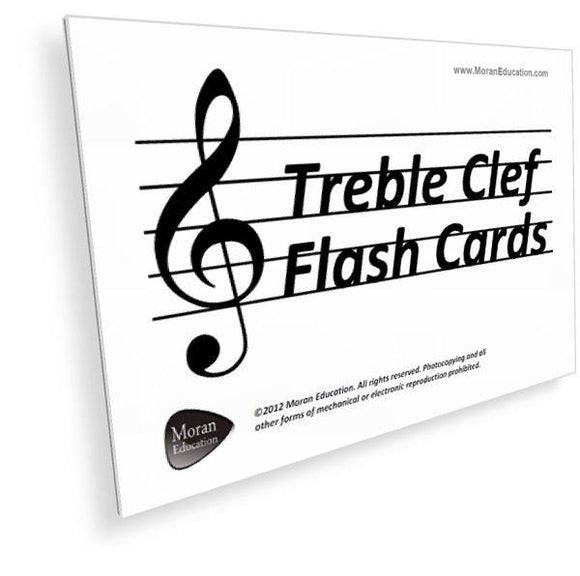 Treble Clef Flash Cards -  PDF - Moran Education