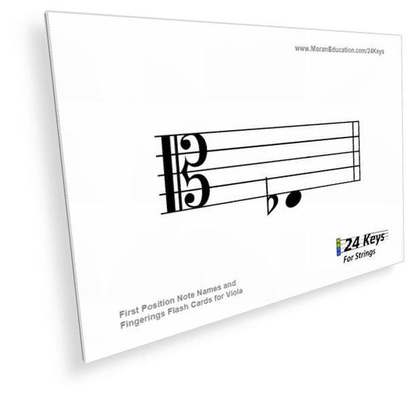 Viola Flash Cards -  PDF - Moran Education