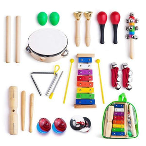 Musical Instruments for Toddler with Carry Bag,12 in 1 Music Percussion Toy Set for Kids with Xylophone,Rhythm Band - Moran Education