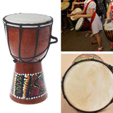 4 inch Professional African Djembe Drum Bongo Classic Painting Wood African Djembe Good Sound Musical Instrument - Moran Education