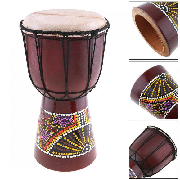 Djembe Drums 6 Inch Professional African Djembe Drum Classic Painting Wood Goat Skin Good Sound Musical Instrument - Moran Education