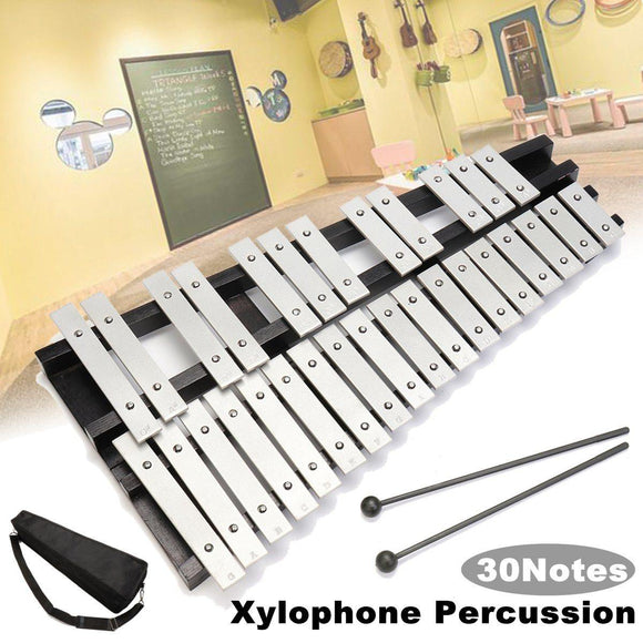 30 Note Xylophone Glockenspiel Aluminum Foldable Percussion Mallets Bag Set - Moran Education