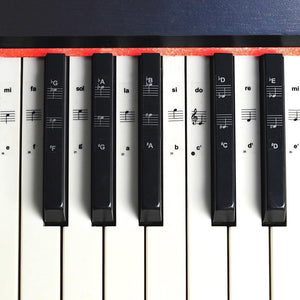 54/61/88 Key Piano Stickers Transparent Piano Keyboard PVC Sticker Piano Stave Electronic Keyboard Name Note Sticker Accessories - Moran Education