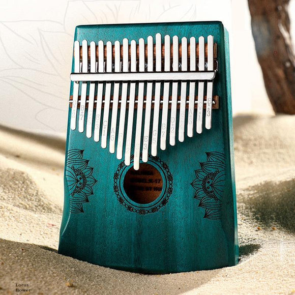 Kalimba 17 Key Thumb Piano Solid Wood Portable Keyboard Instrument High Quality Mahogany Wooden African Kalimba Finger Piano - Moran Education