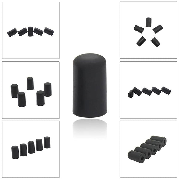 5Pcs Cello Endpin Tip Protector Rubber Cello tail pin case Tip Cap Protector Non-Slip Mat For Cello - Moran Education