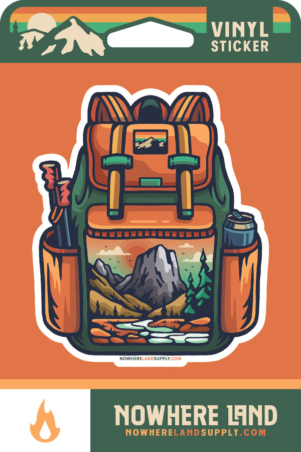 BACKPACK OUTDOORS - STICKER