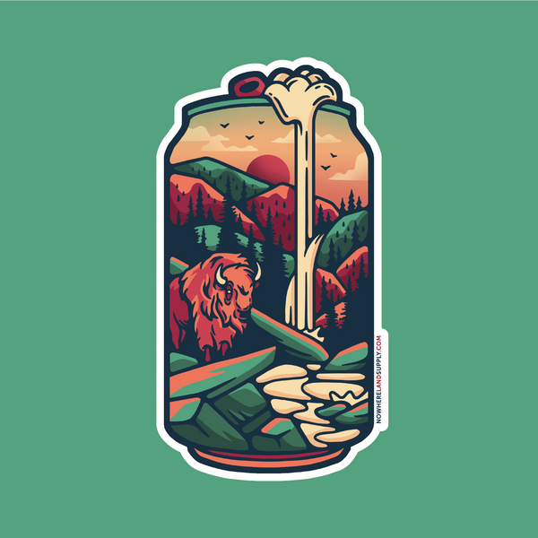 BISON BEER - STICKER