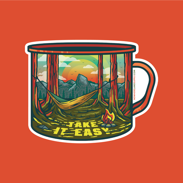 TAKE IT EASY CAMP CUP - STICKER