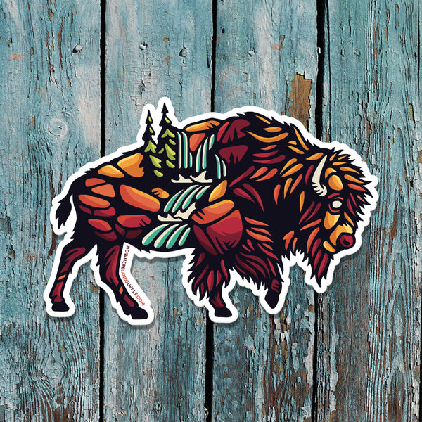 BISON OUTDOORS - STICKER