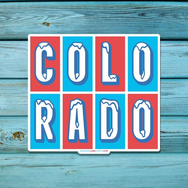 COLORADO ICE - STICKER