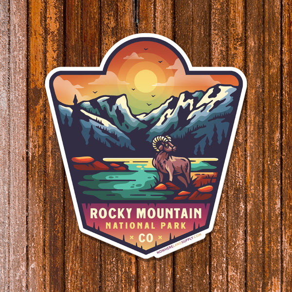 ROCKY MOUNTAIN NP - STICKER