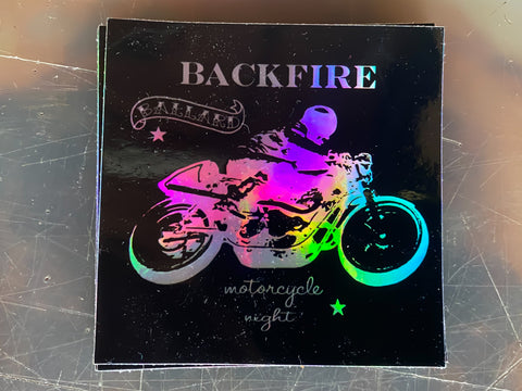 Backfire Moto Hologram Sticker