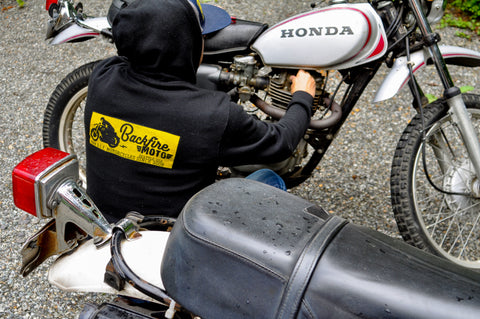 Limited Backfire Moto Front and Back Logo Zip-Hoodie