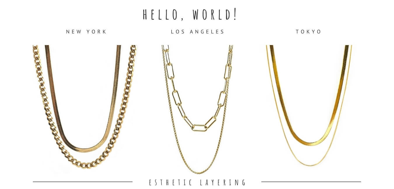 koragarro layered necklaces set chain necklaces choker gold necklaces