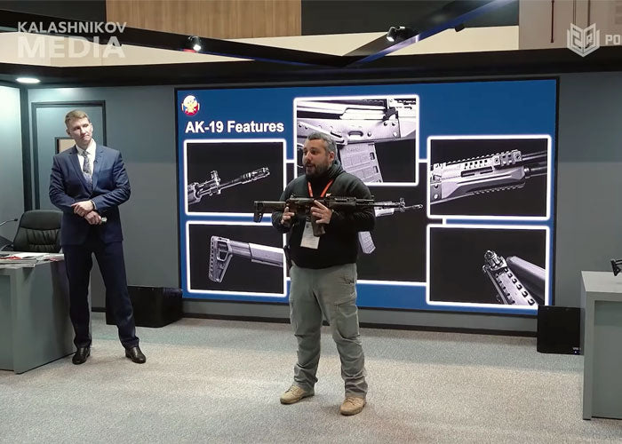 THE KALASHNIKOV AK-19 RIFLE WORLD PREMIERE AT THE IDEX 2021