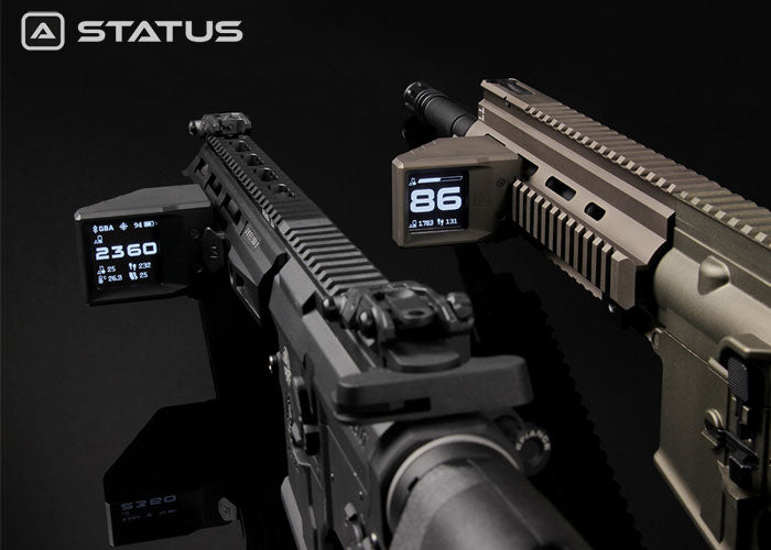 GATE ELECTRONICS' STATUS IS THE FIRST PROFESSIONAL AIRSOFT GUN-MOUNTED TACTICAL COMPUTER