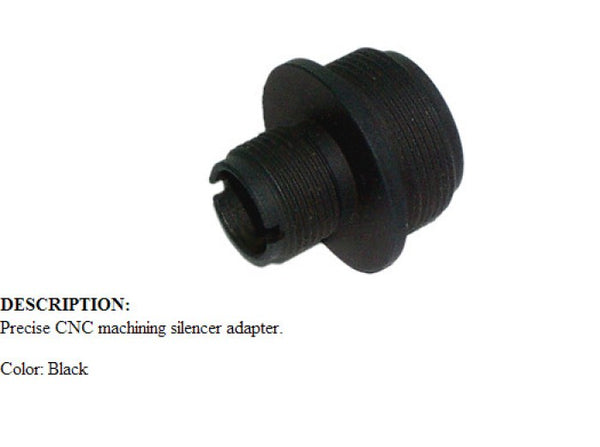 King Arms Silencer Adaptor for APS II (14mm CCW)