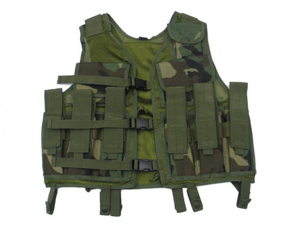 King Arms Tactical Vest (Woodland Camouflage)