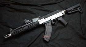 Bunny Custom: MB47 Troy Mid-Length AK Airsoft GBB Rifle