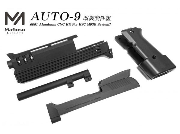 Mafioso Airsoft - CNC Aluminum AUTO 9 Conversion Kit For KSC M93R System7
