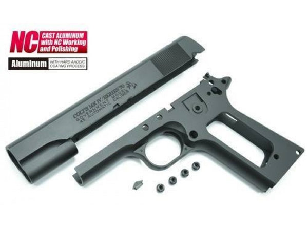 Guarder Aluminum Slide & Frame for Tokyo Marui Series'70 and M1911 (With Marking/Black)