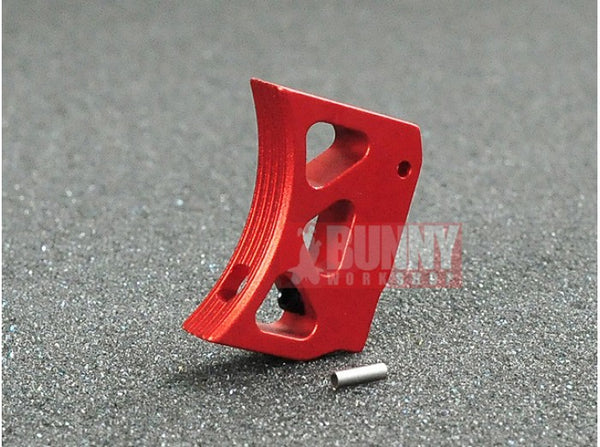 AKA Type A Aluminum Trigger for Marui Hi-Capa GBB (Long, Red)