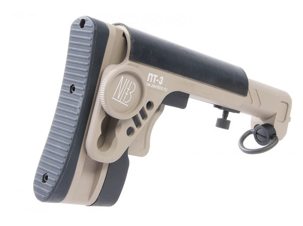 Daruma Custom - Zenitco style PT-3 Tactical Folding Stock for GHK GBB / LCT AEG AK series (Tan)