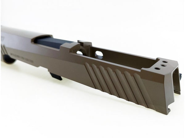 Boom Arms Custom CNC Steel P320 M17 Slide Kit for SIG / VFC M17 GBB (Cerakote Tan, Limited Edition)