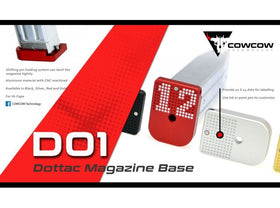 COWCOW Tech D01 Dottac Magazine Base for Tokyo Marui Hi-CAPA GBB Series (Red)