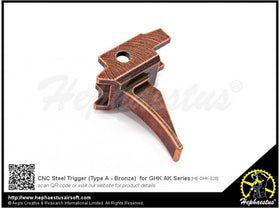 Hephaestus  - CNC Steel Trigger (Type A - Bronze) for GHK AK Series