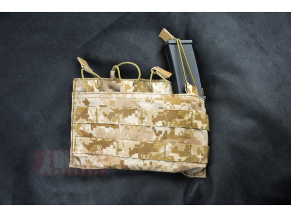 May Flower - MP7 Quad Magazine Pouch, Open Top (Desert Digital)