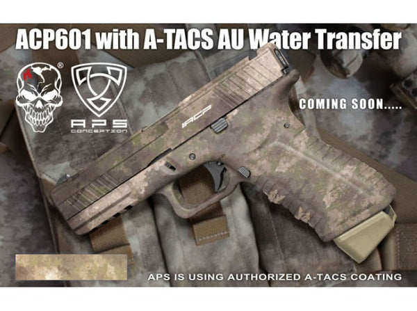 APS - ACP Full Metal CO2 Powered Airsoft GBB Gas Blowback Pistol (A-TACS)