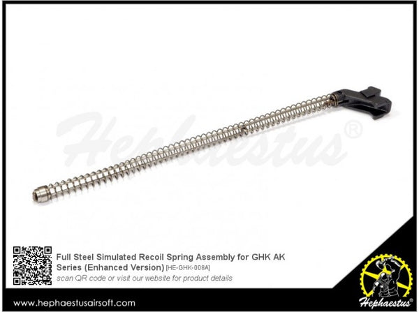Hephaestus Full Steel Simulated Recoil Spring Assembly for GHK AK Series (Enhanced Version)