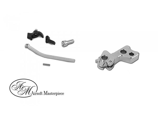 Airsoft Masterpiece CNC Steel Hammer & Sear Set for Marui Hi-CAPA TYPE 5 ( Silver )