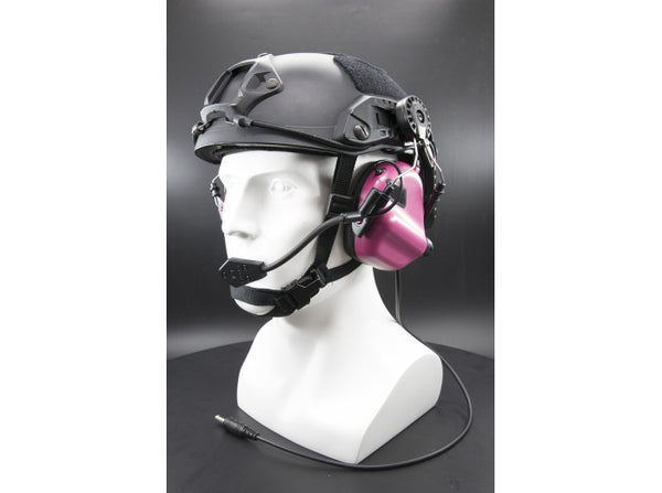 Earmor Tactical Hearing Protection Helmet Version Ear-Muff (2018 New Version) Pink