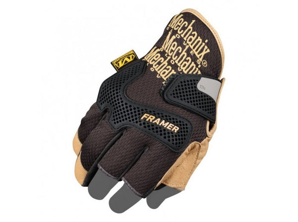Mechanix Wear Gloves, CG Framer, Black/Leather (Size L)