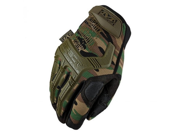 Mechanix Wear Gloves, M-Pact - Woodland Camo (Size S)
