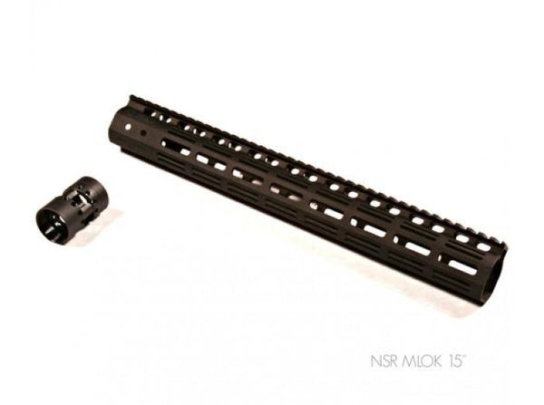 Iron Airsoft - NSR MLOK Rail for Systema PTW Profile (15 inch / Black)