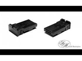 Airsoft Masterpiece Aluminum STI Style Rear Sight for Tokyo Marui Hi-CAPA Series (JW3 Combat Master)