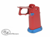 Airsoft Masterpiece Aluminum Grip for Hi-CAPA Type 1 (Red with Blue)