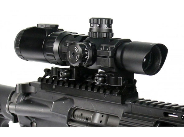 UTG - AccuShot 30mm 1-4.5x28 IE Illuminated CQB Scope (EZ-TAP 36 Color)