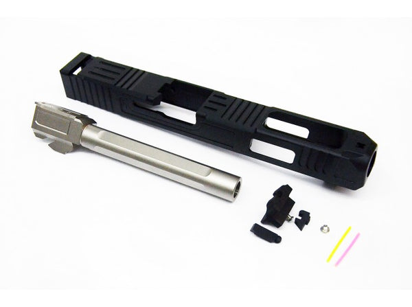 Gunsmith Bros - FI G34 Aluminum Slide & Steel Silver Barrel for Marui G Series