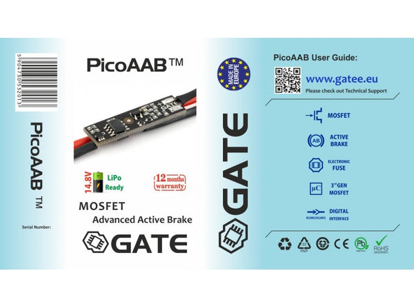 GATE PicoAAB 3rd Generation MOSFET w/ Active Brake