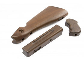 Ra Tech - M1A1 Real Wood Stock Kit For Cybergun / WE Thompson M1A1 GBB (Walnut Wood)