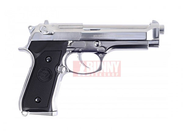 WE M92 Full Metal GBB Pistol with marking (Silver)