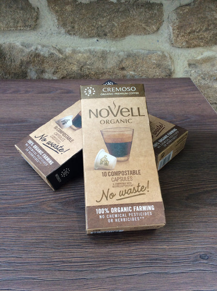 Novell Organic Compostable Coffee Capsules - Cremoso