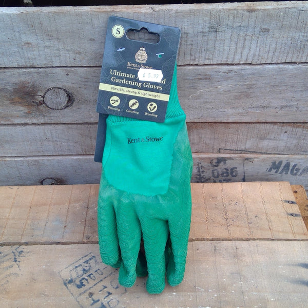 Ultimate All Round Gardening Gloves - Green (Small)