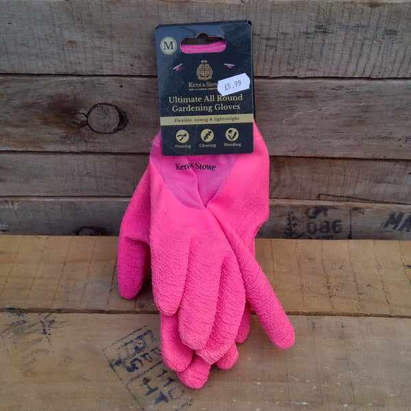 Ultimate All Round Gardening Gloves - Pink (Medium)