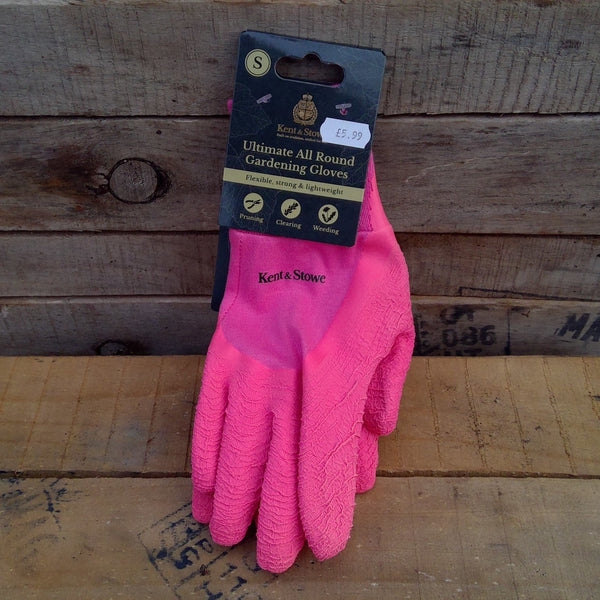 Ultimate All Round Gardening Gloves - Pink (Small)